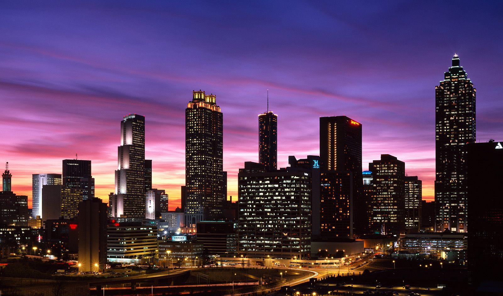 Atlanta-Skyline-at-Sunset-Georgia